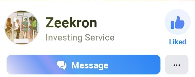 Zeekron Investment Facebook page